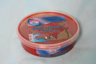 Филе сельди в томатном маринаде