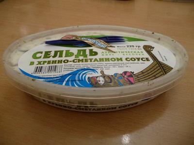Филе сельди в хренно-сметанном соусе