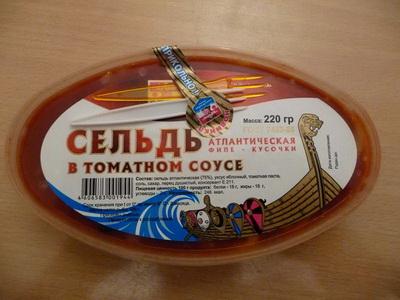 Филе сельди в томатном соусе
